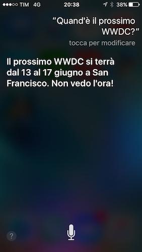 WWDC 2016: Siri Annuncia Le Date, Si Parte Dal 13 Giugno