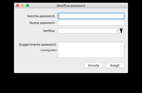Modifica Password Time Machine