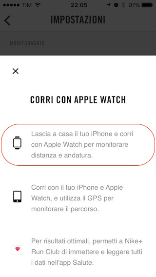 Nike run apple watch