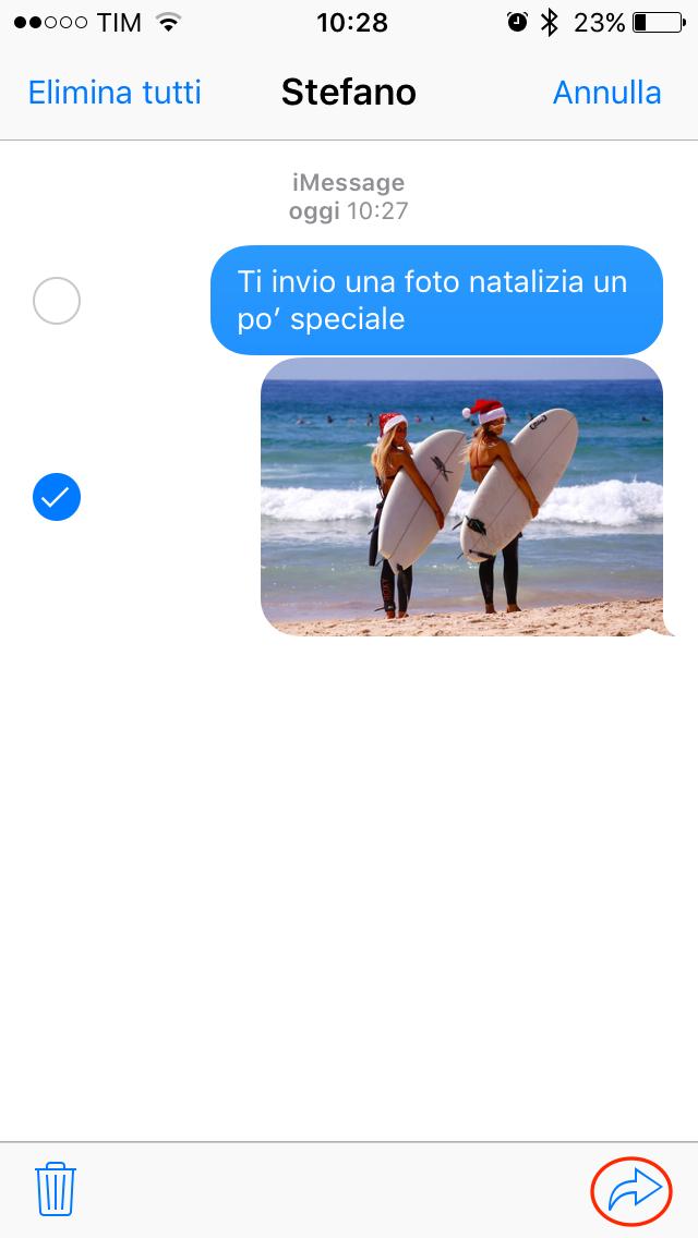 Condivisione foto Messaggi iOS 002
