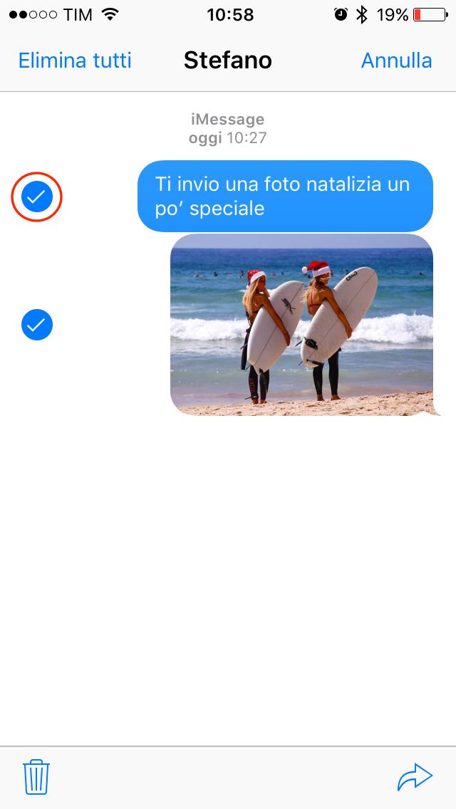 Condivisione foto Messaggi iOS 004