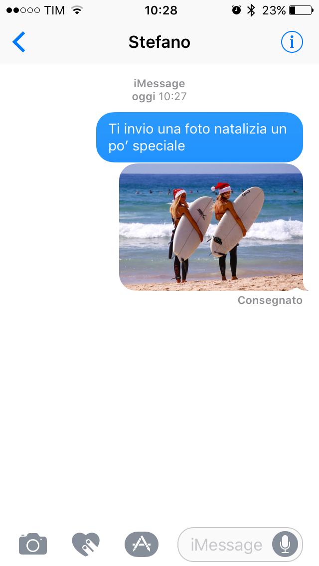 Condivisione foto Messaggi iOS