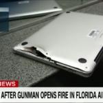Sparatoria aeroporto Florida: MacBook Pro salva la vita di un passeggero