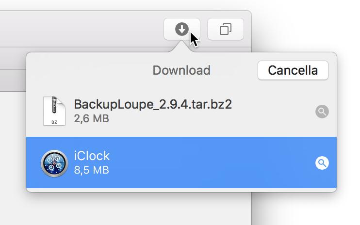 Safari mostra download