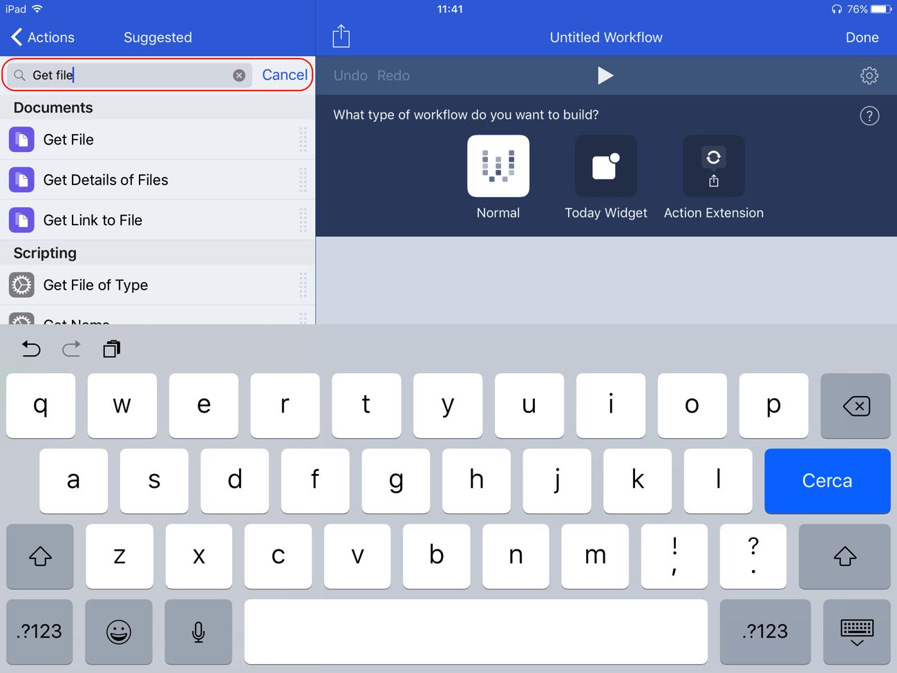 Creare archivio zip iPad