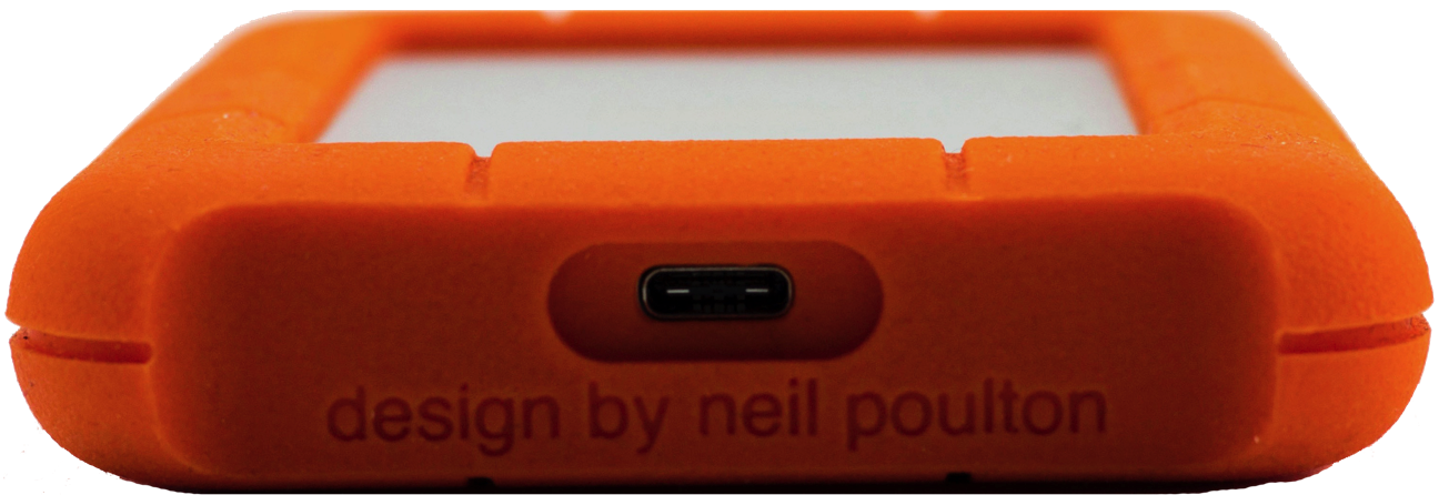 LaCie Rugged Mini USB C porta
