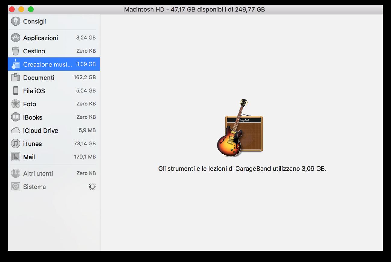 Rimuovere garageband per guadagnare spazio prezioso su mac for Costo per aggiungere spazio sul garage