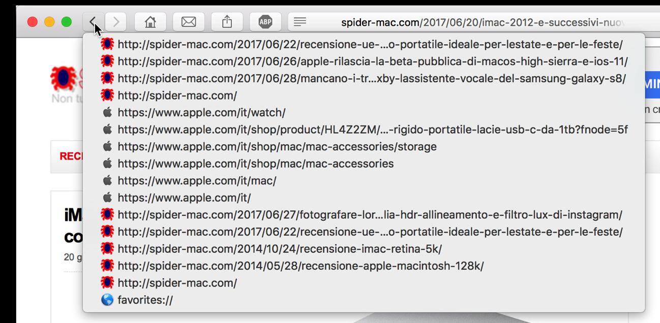 Safari inditro URL