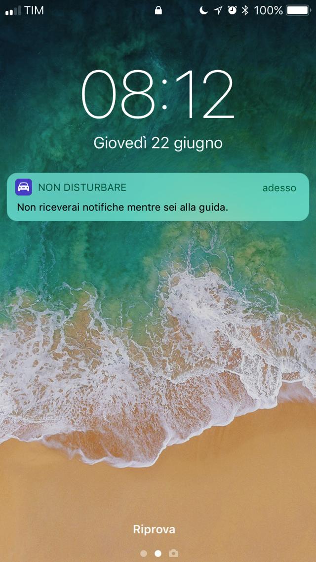 IOS 11 Non disturb are alla guida 002
