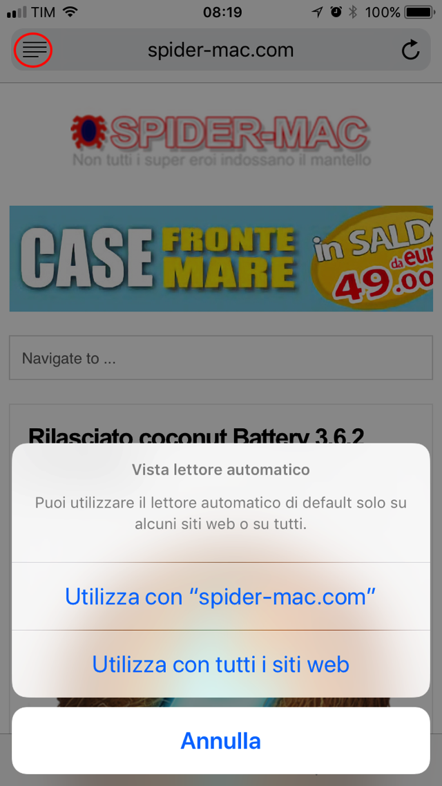 Vista Reader automatica