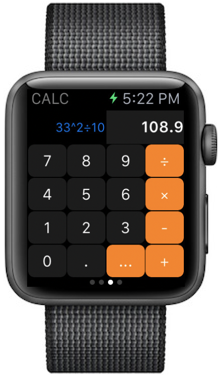 Apple watch calc swift