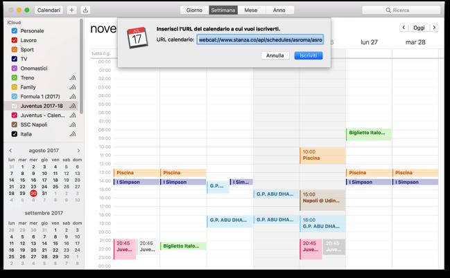 Calendario Iscriviti calendario stanza