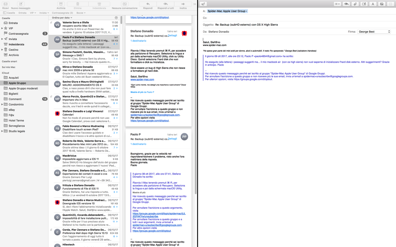 Mail Split View