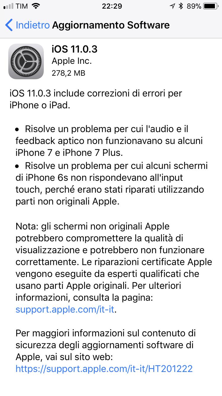 IOS 11 0 3