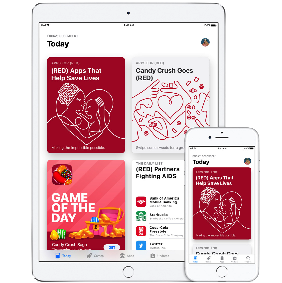 Worldaidsday app store today 20171130