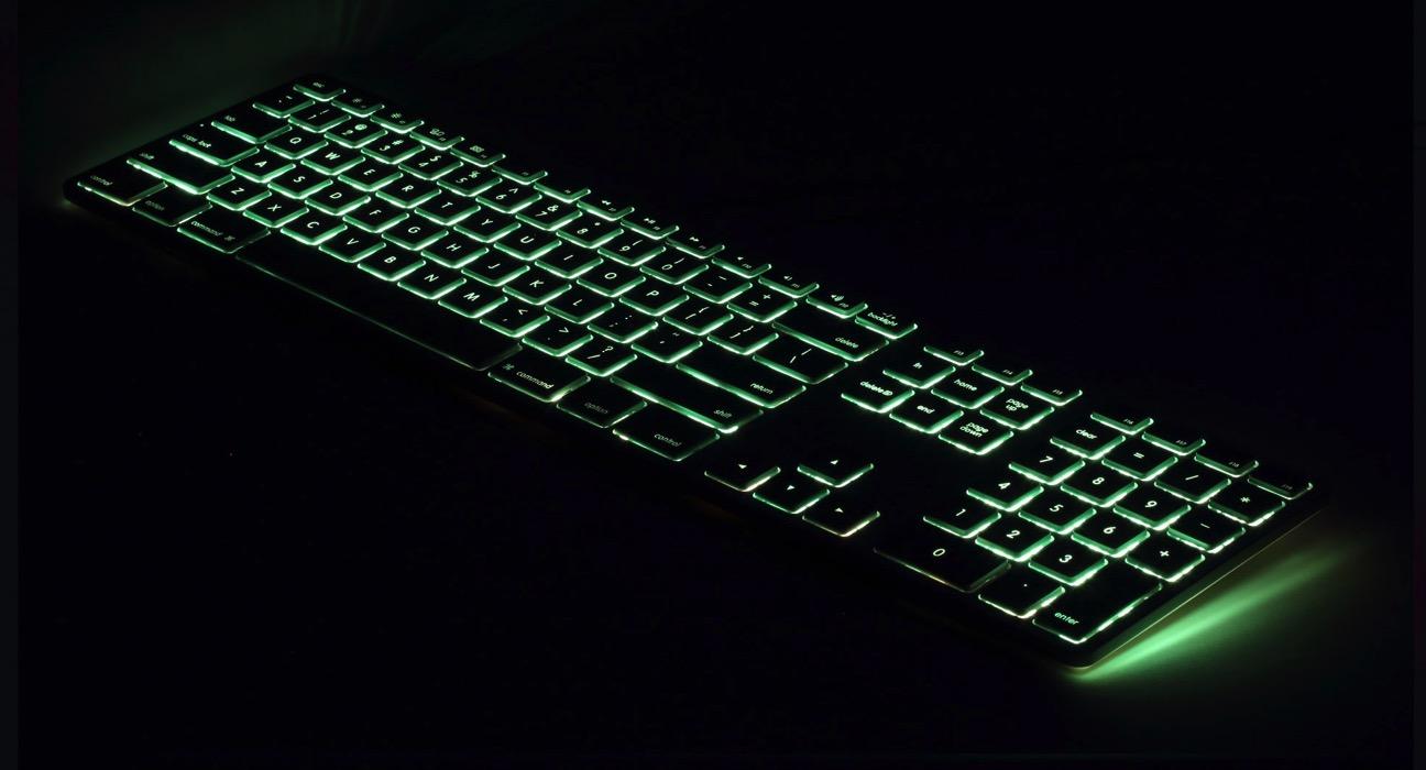 Matias tastiera Mac retroilluminata verde