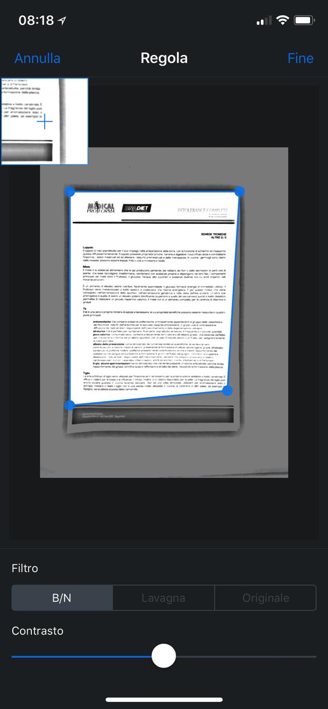 Dropbox scansione Regola