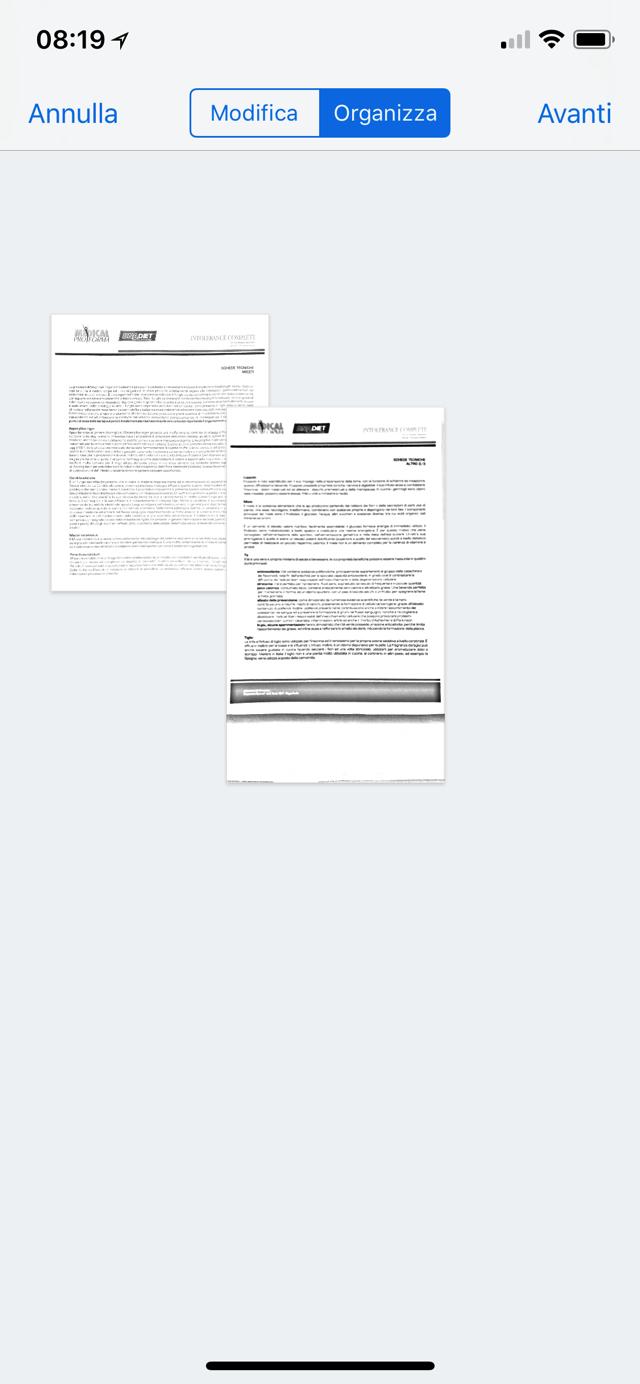 Drtopbox scansione multipagina