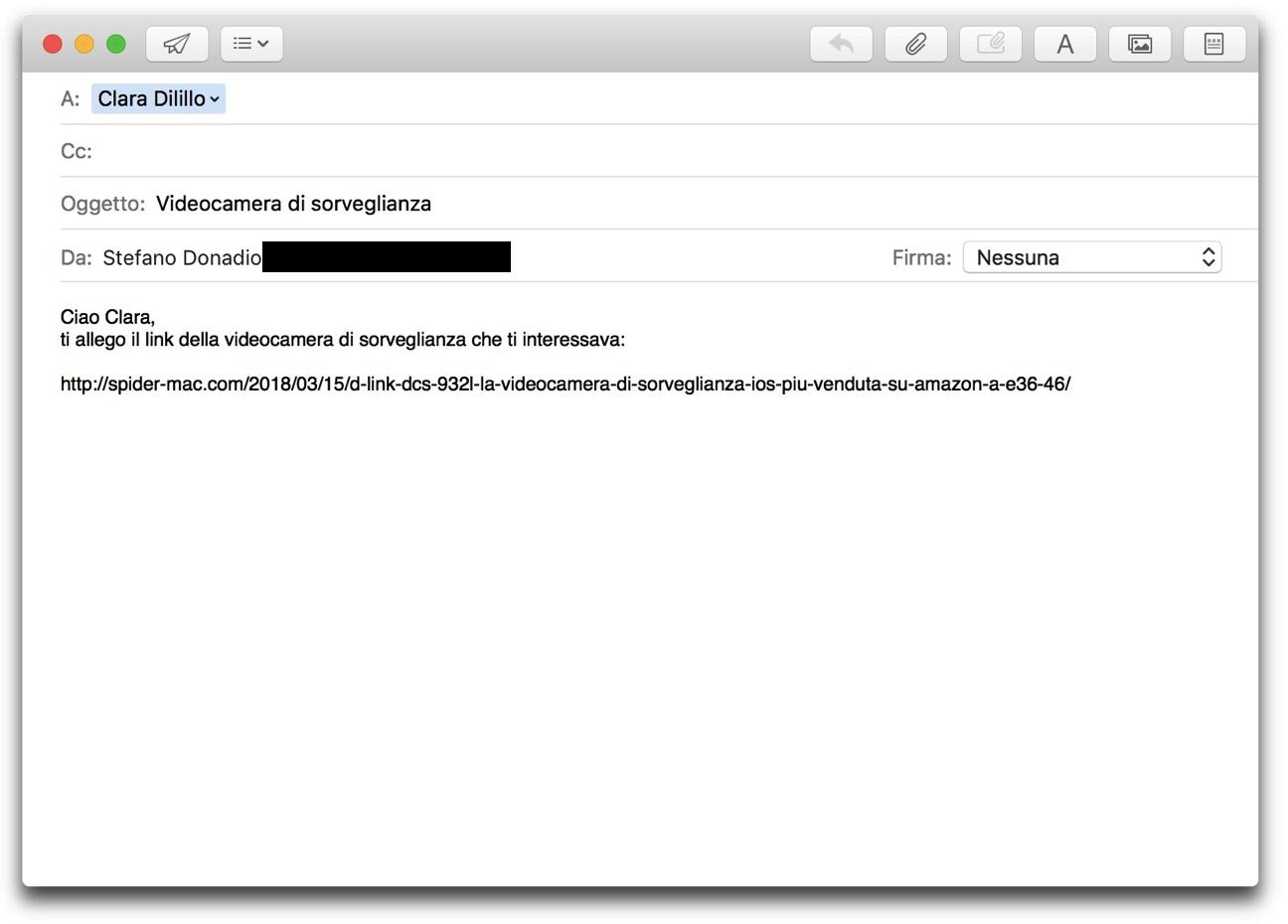 Mail formattare link 001