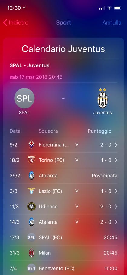 Spotlight iOS risultati calcio 02