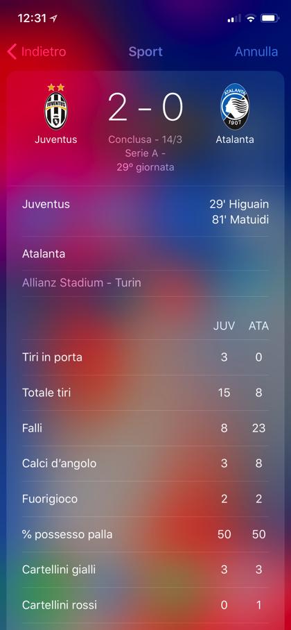 Spotlight iOS risultati calcio 03