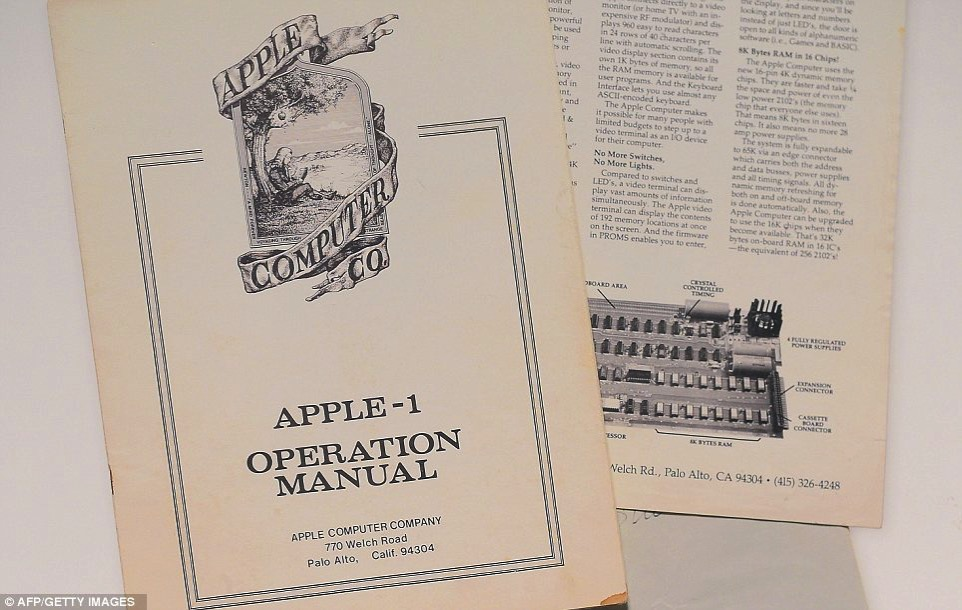Apple I manuale