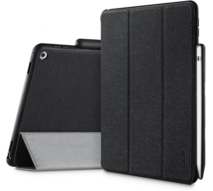 Combo case with apple pencil holder for new ipad cable technologies