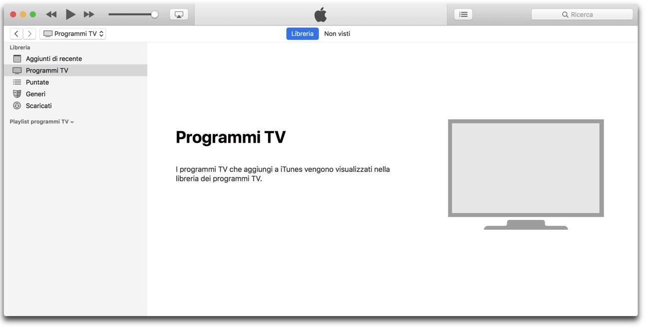 ITunes programmi tv