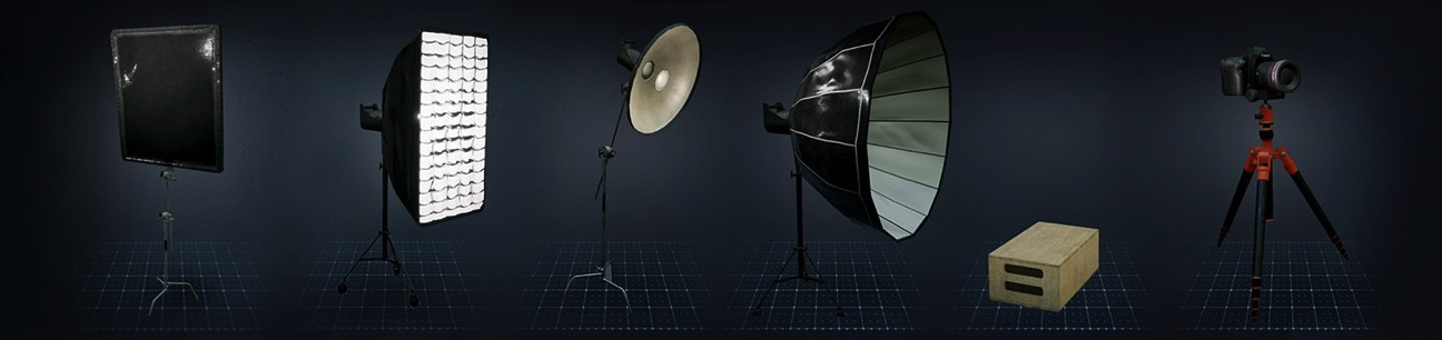 Photo studio ar augmented reality light gear 01