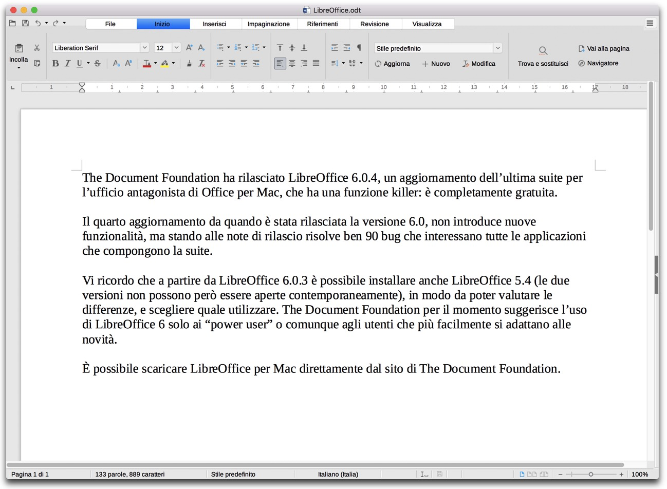 LibreOffice 6 0 4