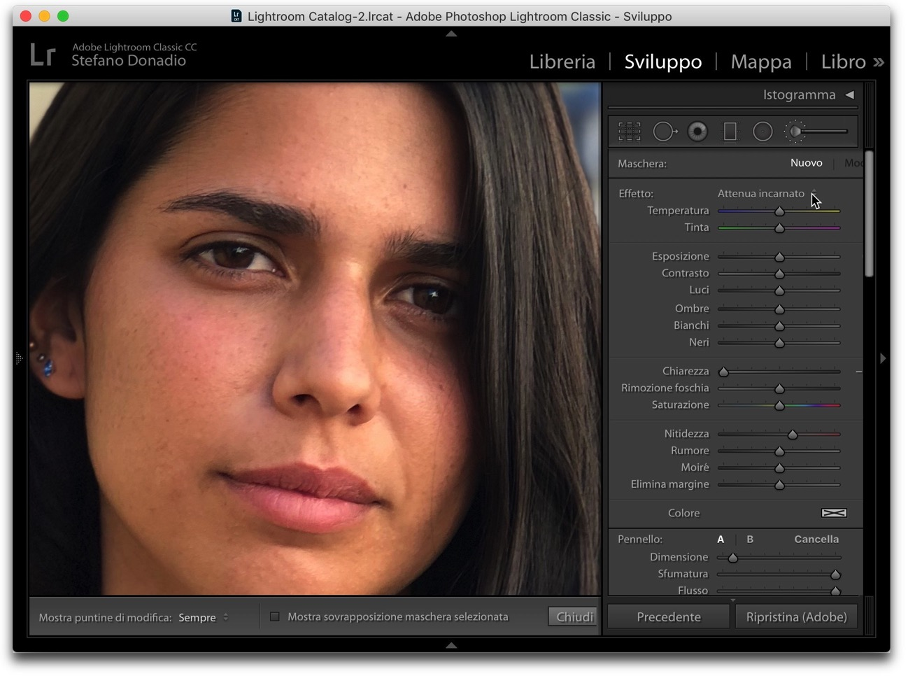 Lightroom attenua incarnato