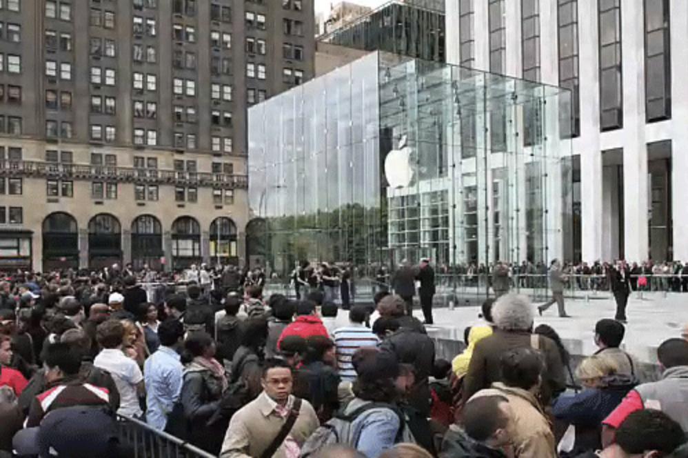 Steve Jobs Apple Store cubo coda