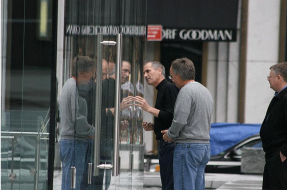 Steve Jobs Apple Store cubo