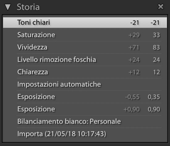 Storia Lightroom