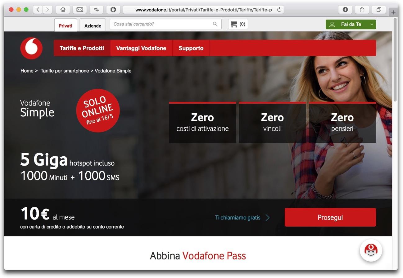 Vodafone Simple iPhone