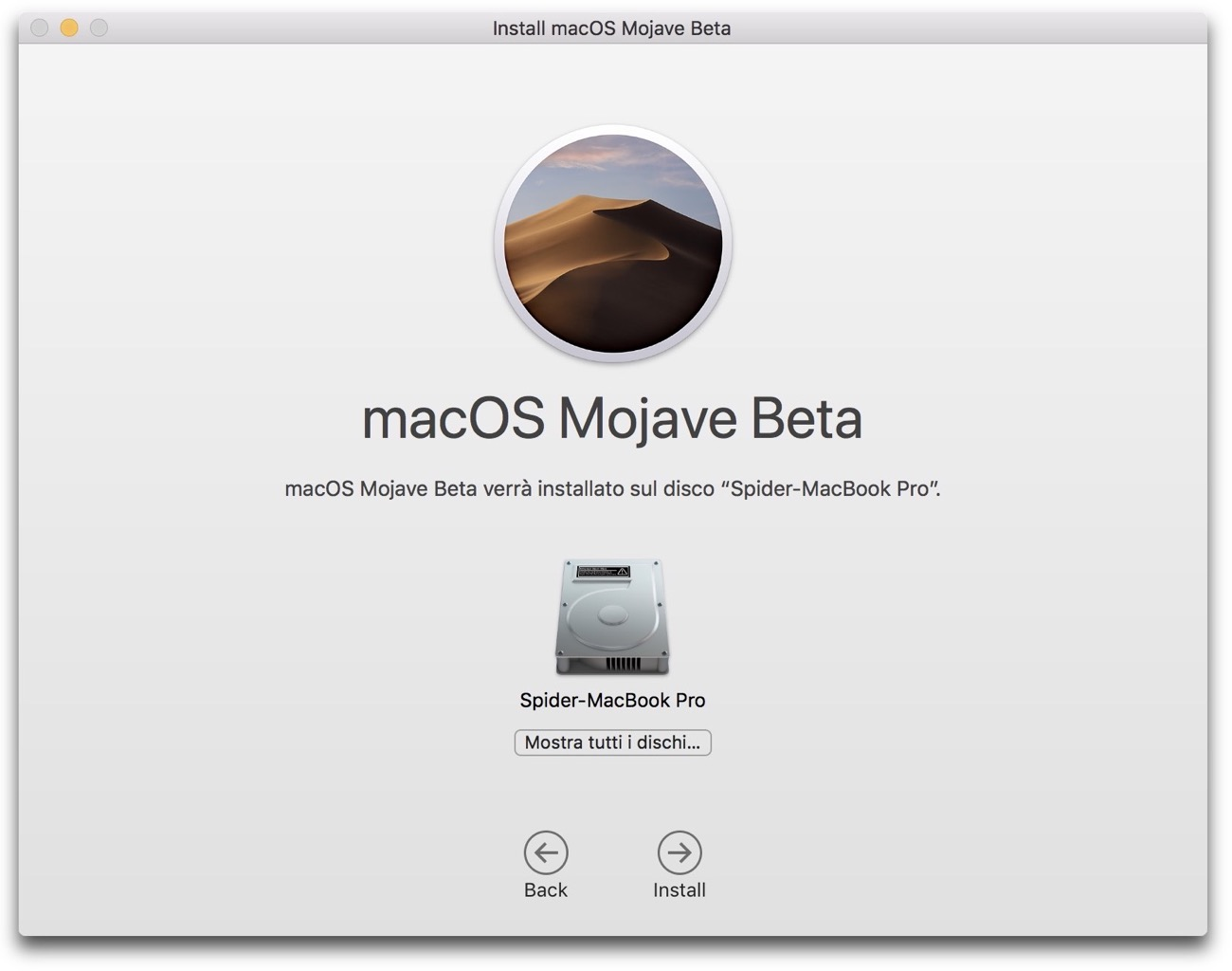 Install macOS Mojave Beta002
