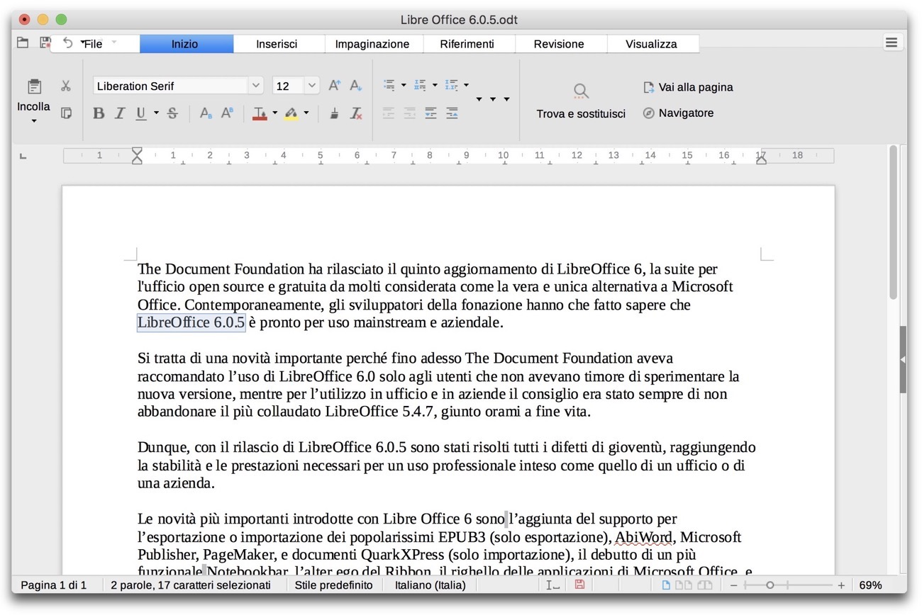 LibreOffice6 0 5 Word