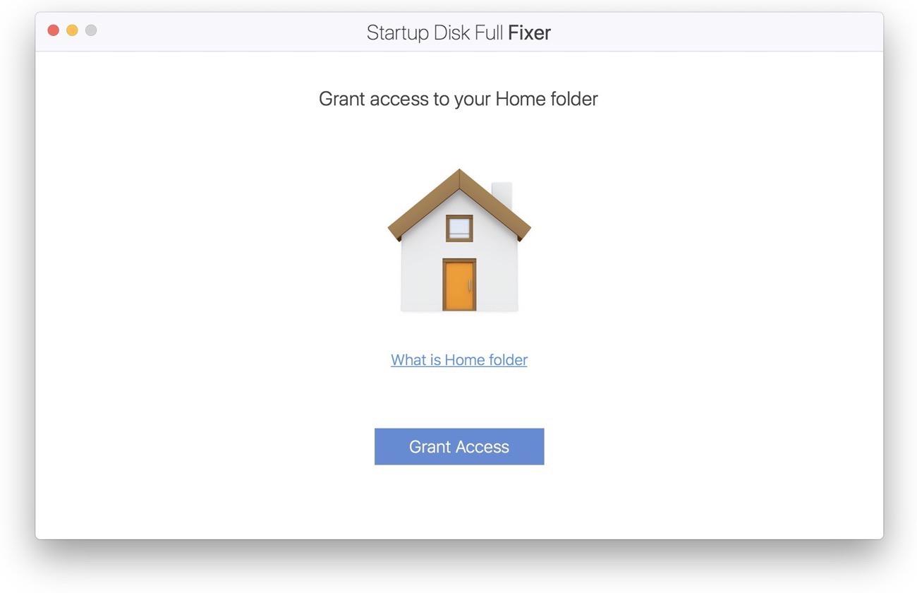 Startup Disk Full Fixer 002