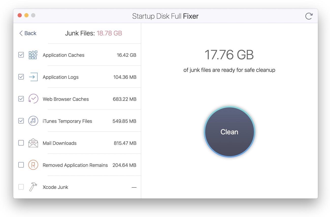 Startup Disk Full Fixer 003