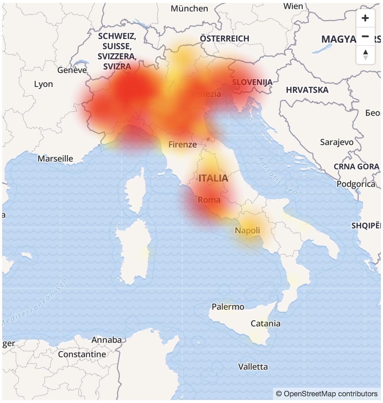 Vodafone problemi 11 luglio