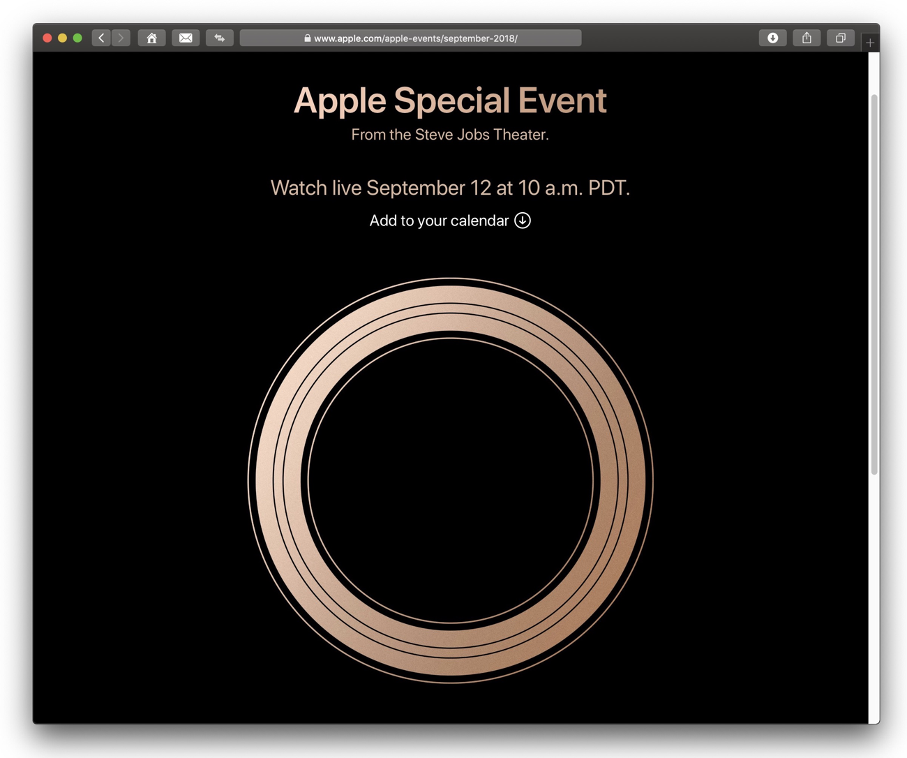 Apple Special Event diretta video