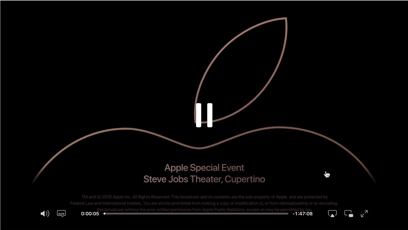 Apple Event streamin video