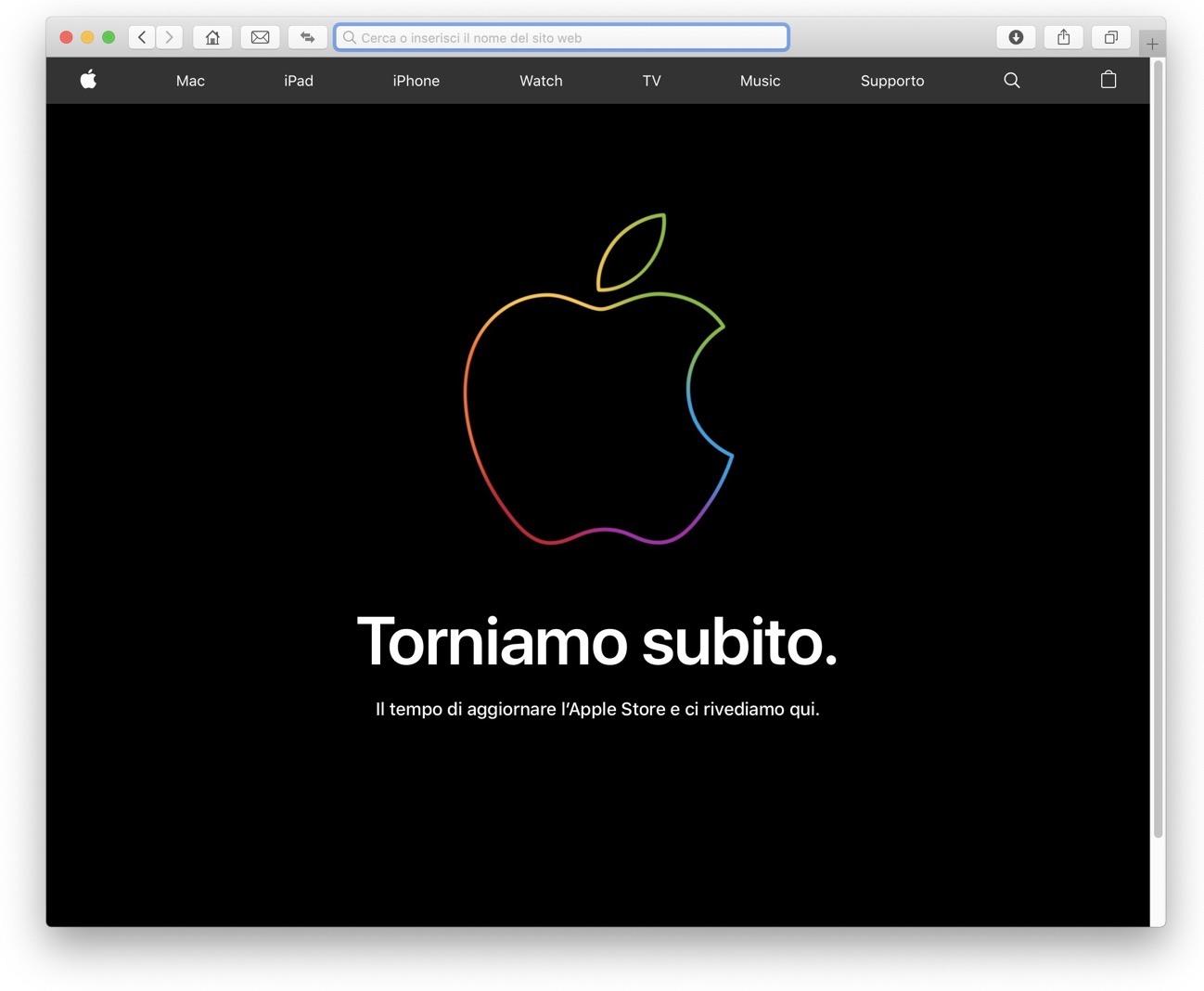 Apple Store torniamo subito