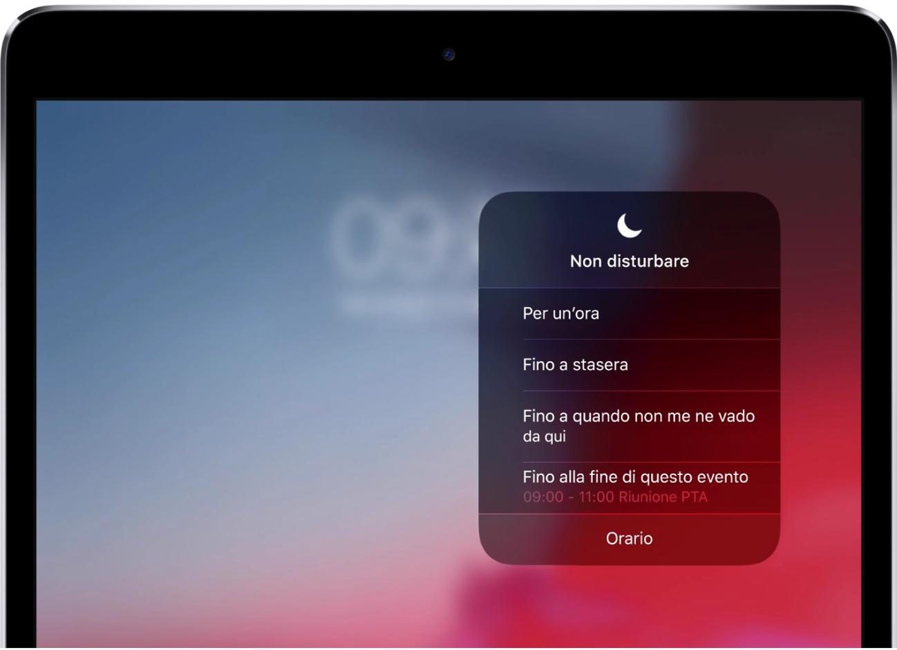 Non disturbare iOS 12