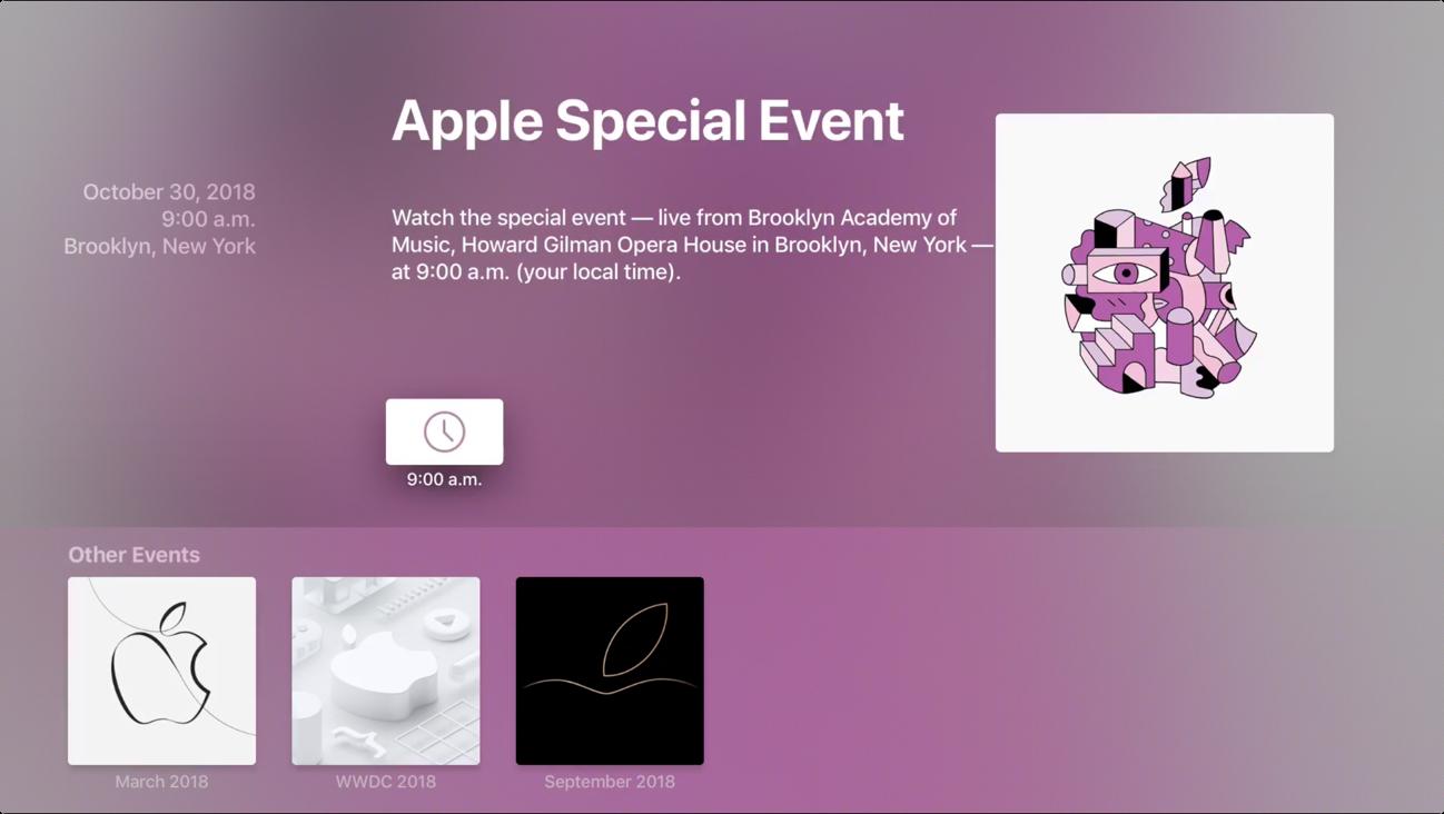 Apple Special E>vent 30 ottobre