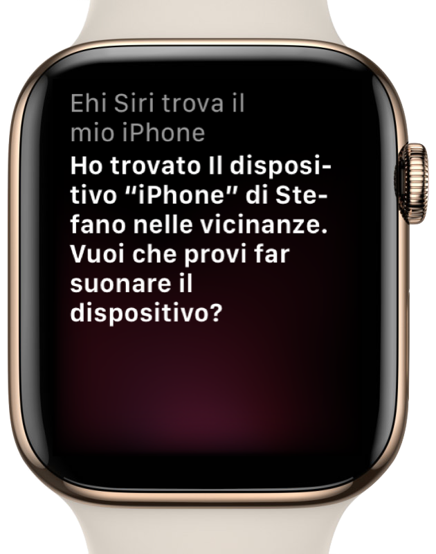 Apple Watch trova mio iphone