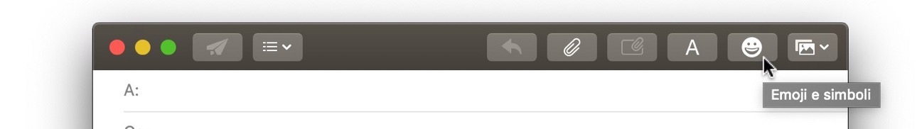 Mail Mojave pulsnate emoji