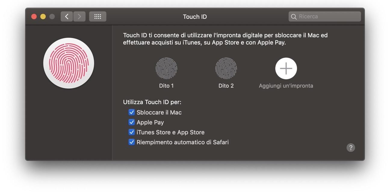 Touch ID rimepimento automatico safari