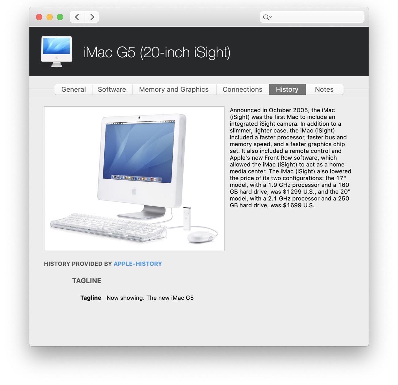 IMac G5 iSight 2005