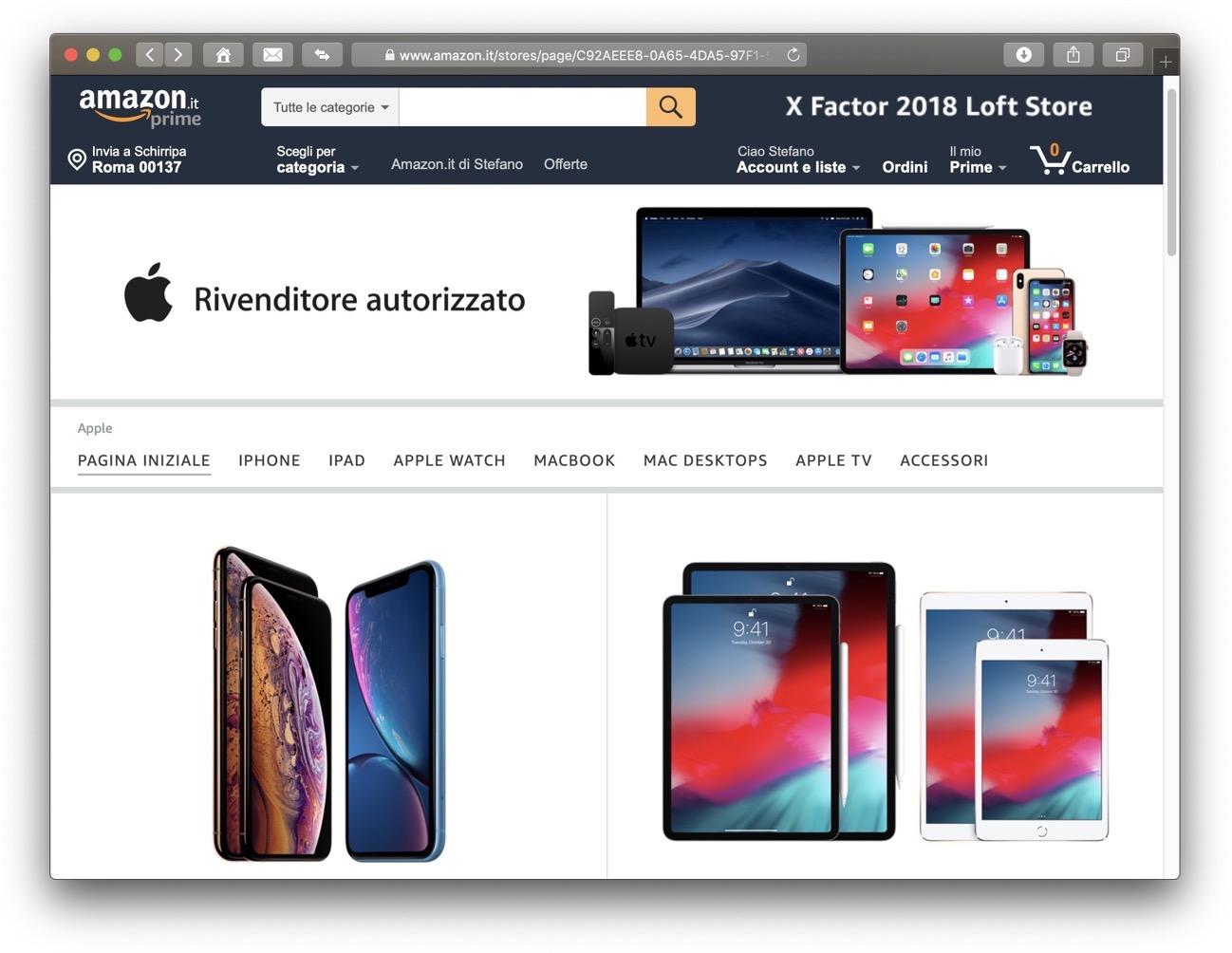 Amazon Rivenditore autorizzato Apple